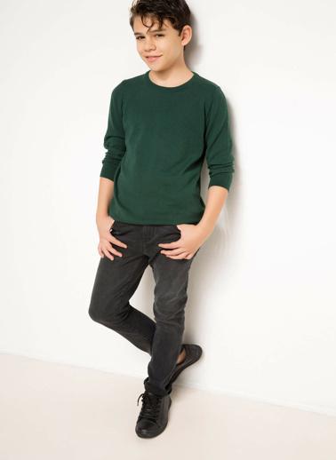 DeFacto Basic Genç Erkek Kazak Yeşil